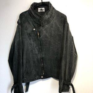 Vintage coda women's denim jacket grey medium